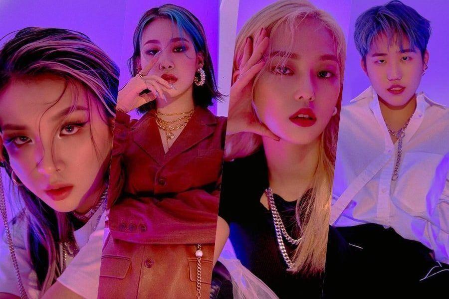 Jiwoo, Jamie de KARD, Yeeun de CLC et Sleeq partagent leurs réflexions sur sa croissance à travers «Good Girl»