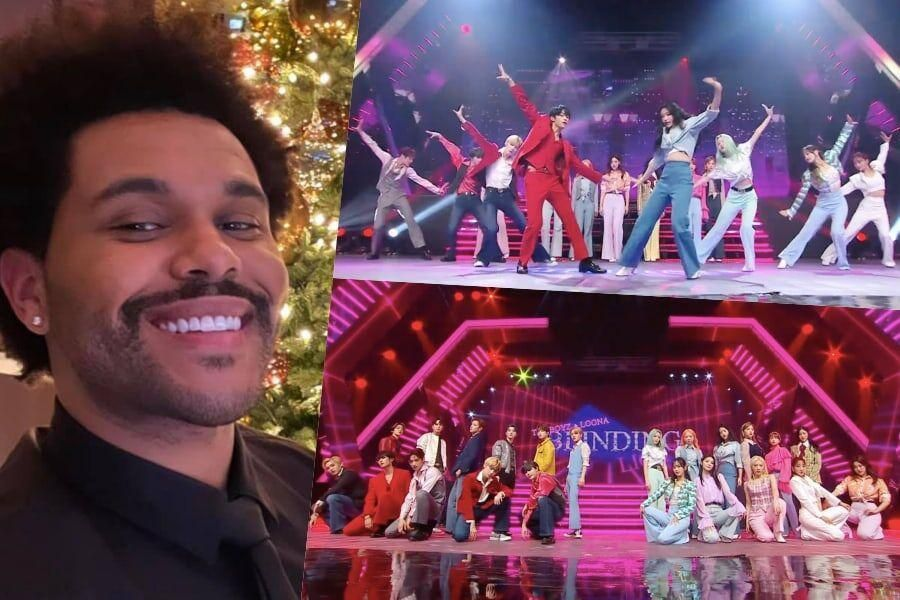 The Weeknd montre son amour pour LOONA et la collaboration The Boyz agissant pour «Blinding Lights»